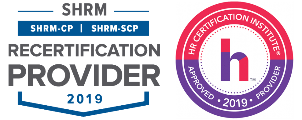 SHRM and HRCI 2019 Seals